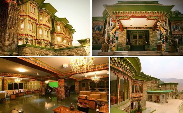 A collage of the many views of RKPO Green Resort at Punakha