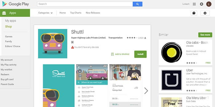 Download shuttl application for free rides
