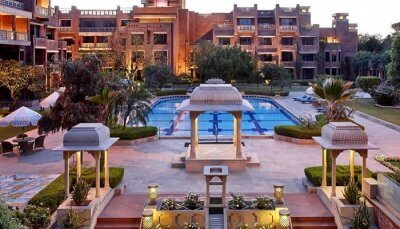 ss-100417-Exteriors and swimming pool of the ITC Rajputana in Jaipur state