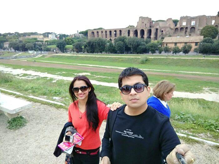 Selfie on my trip to Europe