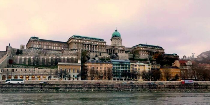 The beautiful view of monuments in Budapest at sunset