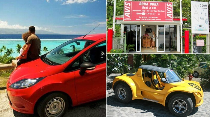 Avis and Europcar offer the option to rent a car in Bora Bora