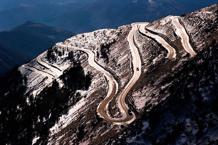 The winding Guwahati-Tawang roads offering an adventurous road trip