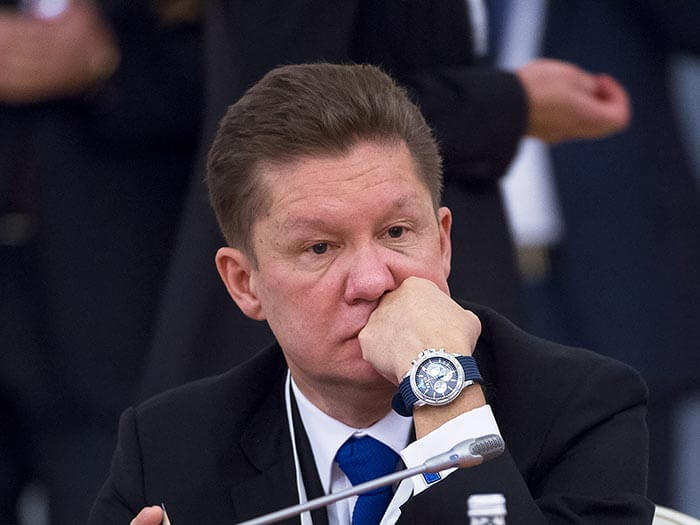 Gazprom CEO Alexey Miller who had Google blur out his house from Google Maps