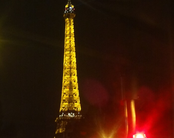 Eiffel Tower in the night