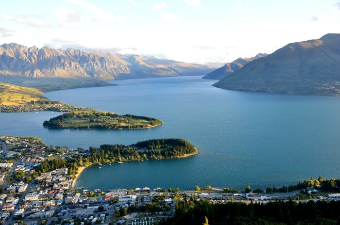 Gorgeous view of Queenstown from the Airport
