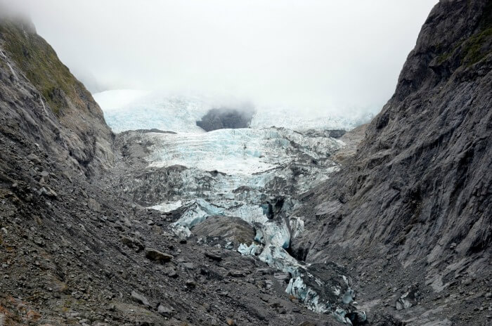 stunning view of the glacier in franz joseph in new zealand
