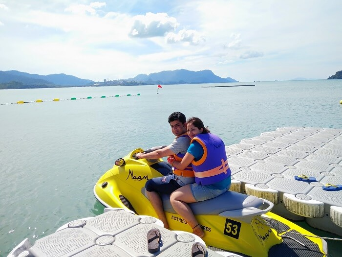 Jet skiiing in Langkawi