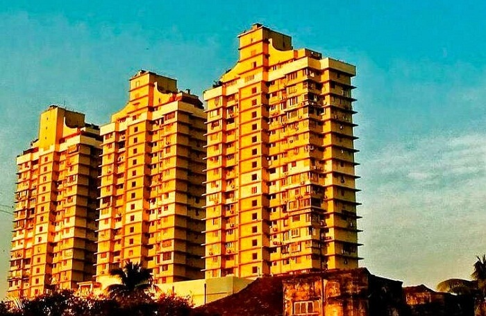 A view of the Grand Paradi Towers that is claimed to be one of the haunted places in Mumbai