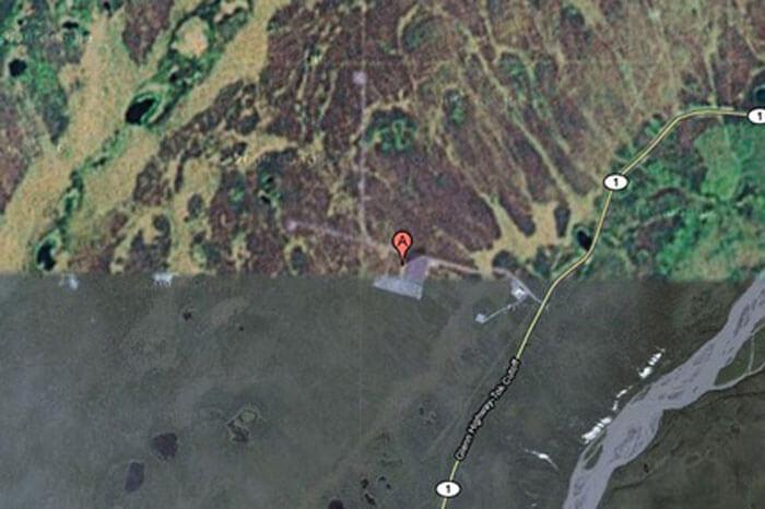Google maps don't show the HAARP site in Alaska