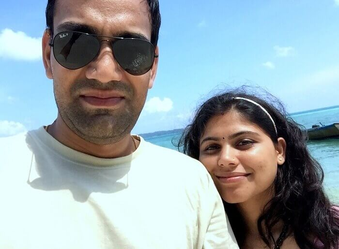 Selfie at the beach in Andaman