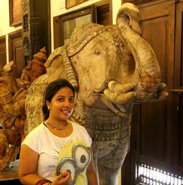 Yateen's wife at the Museum of Kerala History