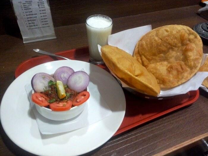 Ram enjoying delicious food in Ajmer