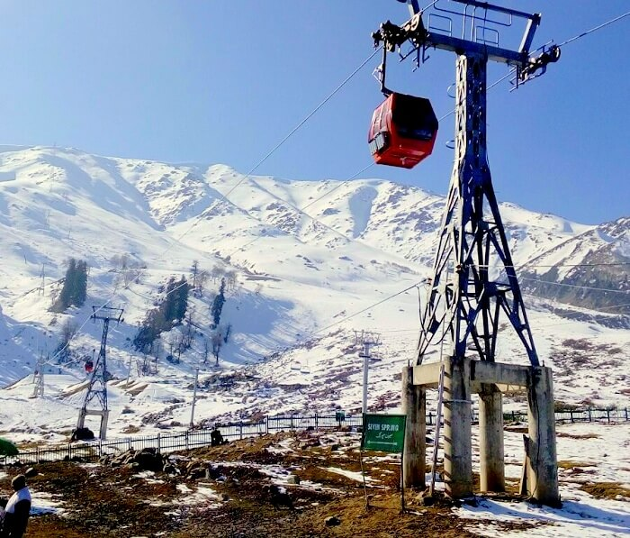 Gondola cable ride in Gulmarg