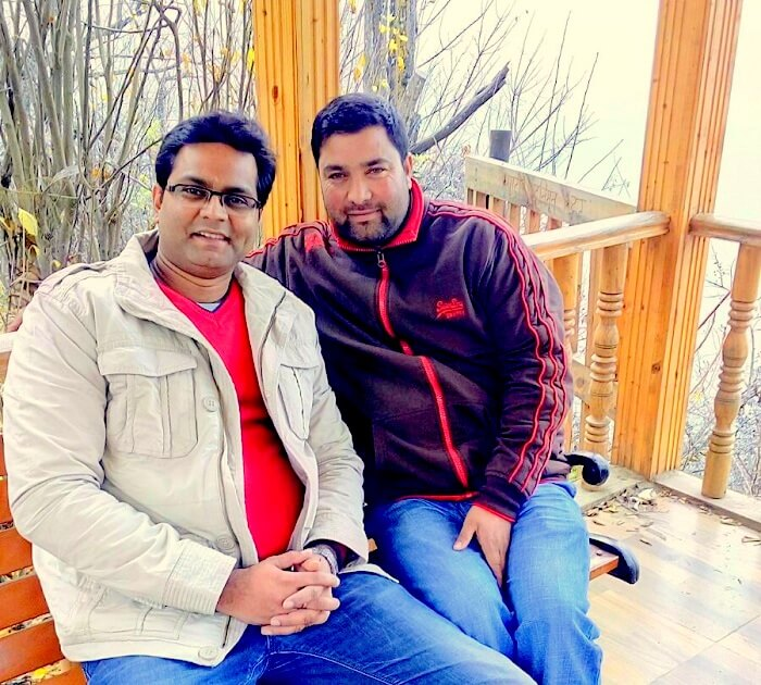 Rachit and Mr Ahmad in Srinagar