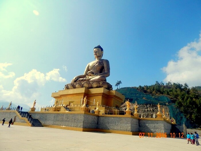 Buddha Statue in Kuensel Phodrang in Bhutan