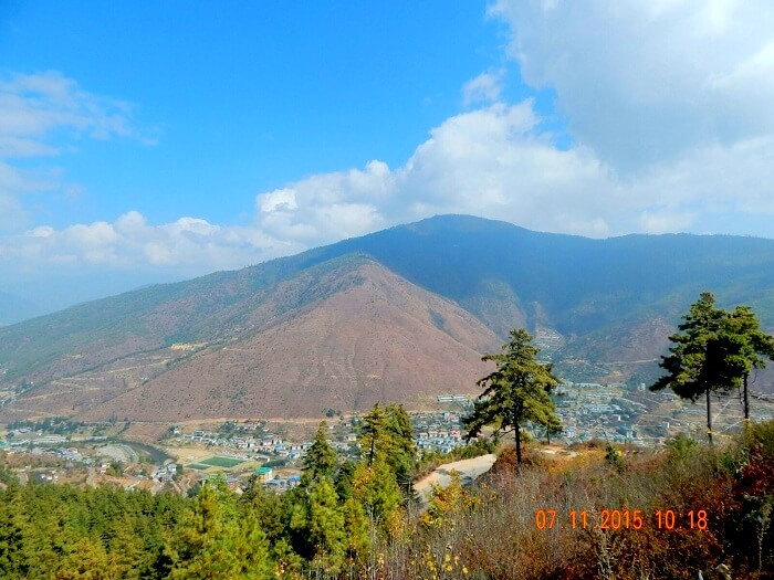 View of Thimphu