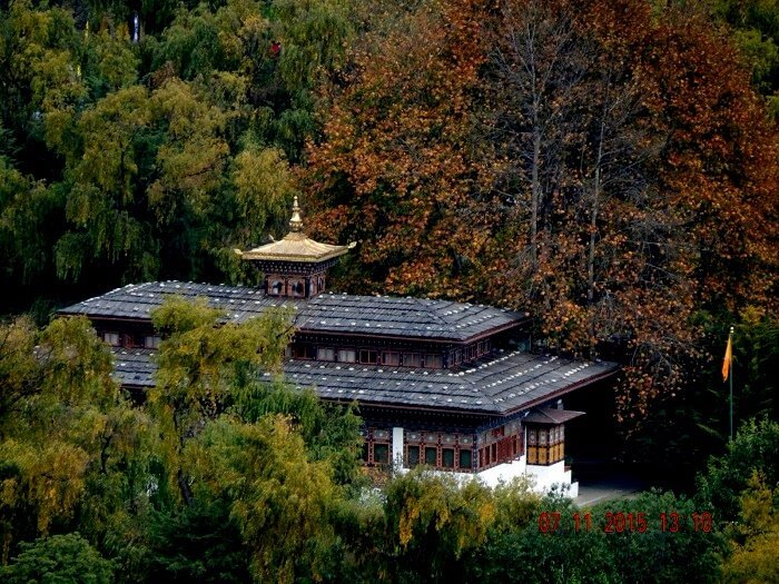 A view of the Kings Palace in Bhutan
