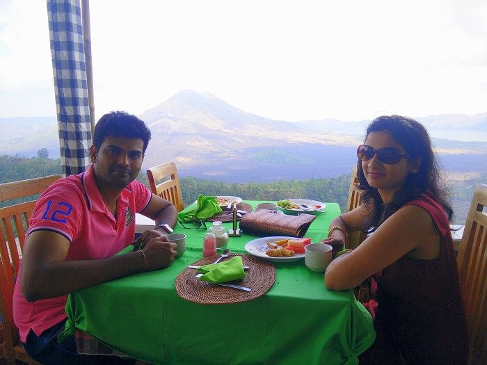 Lunch at the volcano mountain in Bali