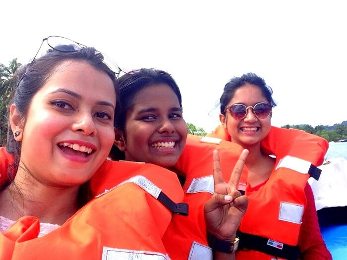 taking the speed boat ride in Andaman