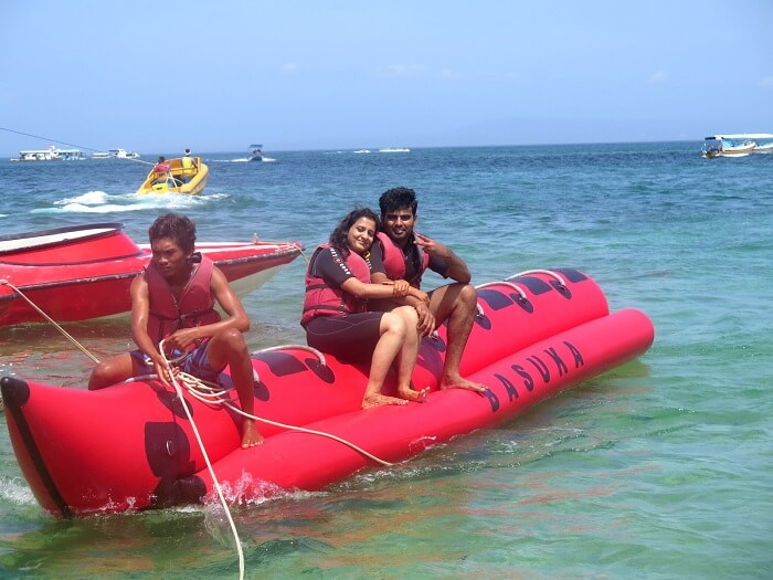 Banana Boat in Bali