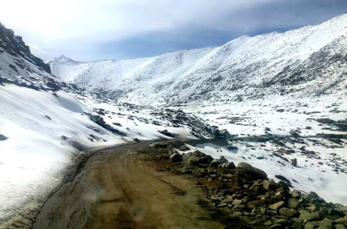 Snow in Ladakh