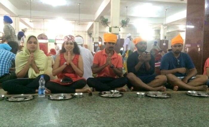 Praying at Golden Temple