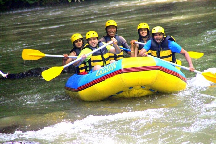 Rafting on river Ayung