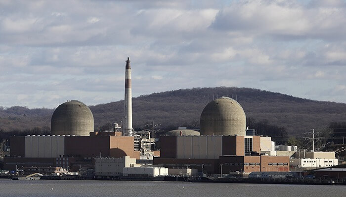The Indian Point Power Plant in New York that has been blurred out on Google map