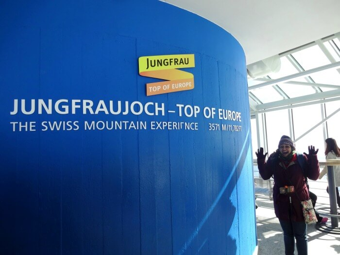 Excited to be at the gorgeous col of Jungfraujoch
