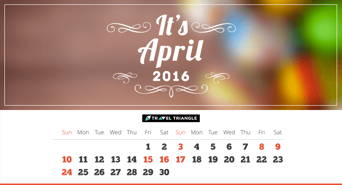 List of all the long weekends in April 2016