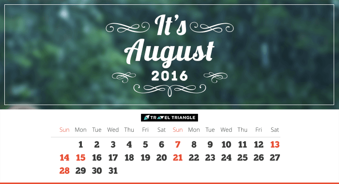List of all the long weekends in August 2016