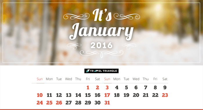List of all the long weekends in January 2016
