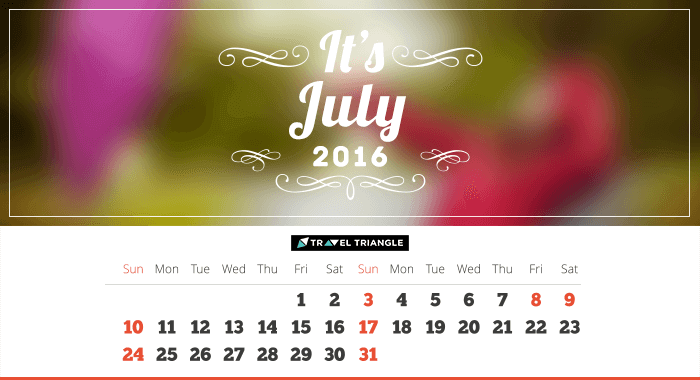 List of all the long weekends in July 2016