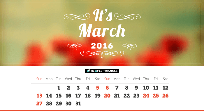 List of all the long weekends in March 2016