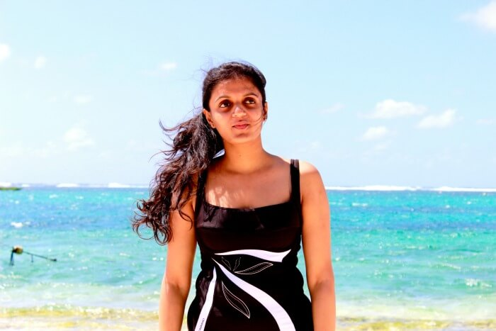 Chiranth's wife at Ile Aux Cerfs