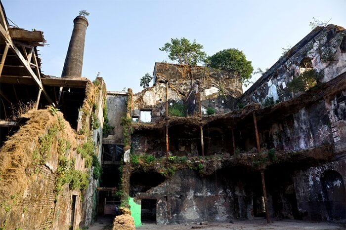 A view of the haunted Mukesh Hill at Colaba