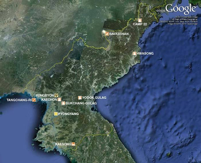 North Korea hidden on Google map