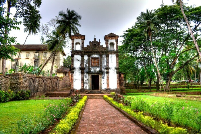 The cathedral church in Old Goa
