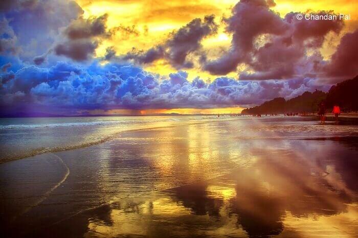 scenic outlook of radhanagar beach
