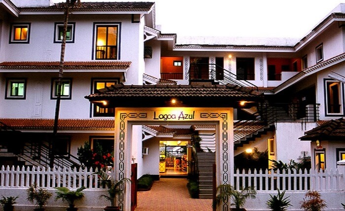 Resort Lagoa Azul is one of the most comfortable stays near Baga Beach