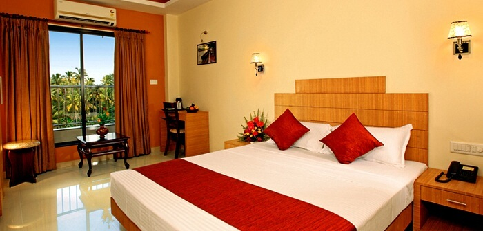 A view of one of the rooms at Royal Riviera Kumarakom