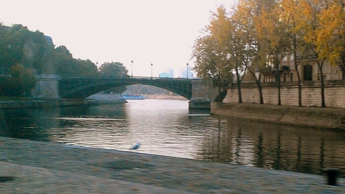 Beautiful Paris on a winter morning