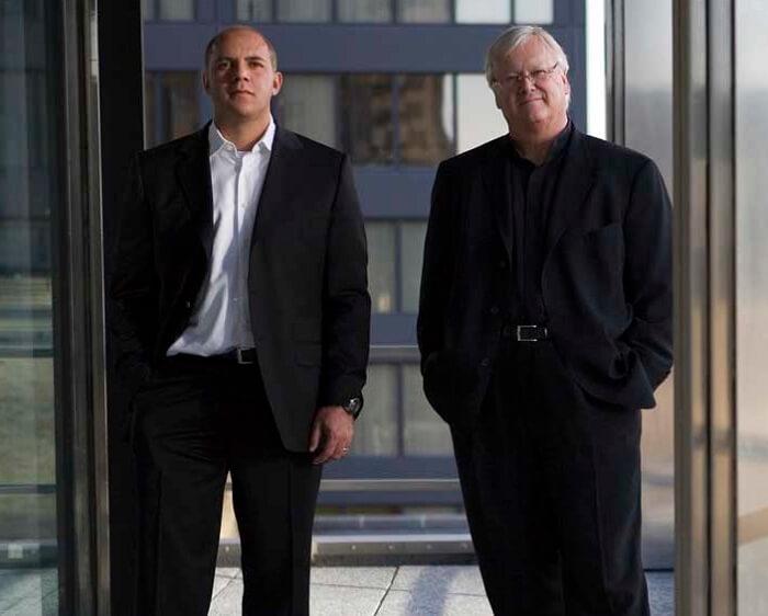 The architects of burj Khalifa and Kingdom Tower - Adrian Smith and Gordon Gill