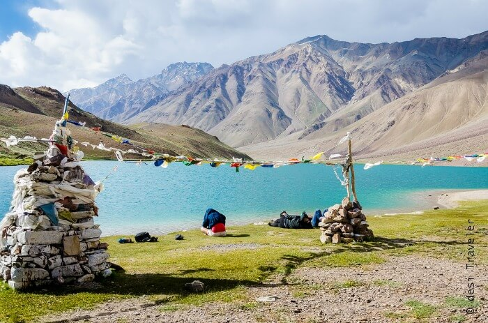 View of Chandratal Lake in Spiti