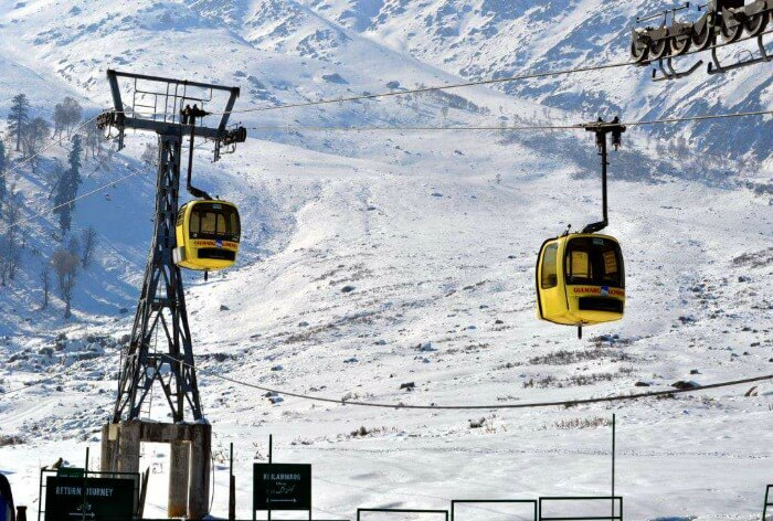 Cable car ride in Gulmarg