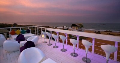 An evening snap of one of the beachside hotels in Goa near Calangute beach