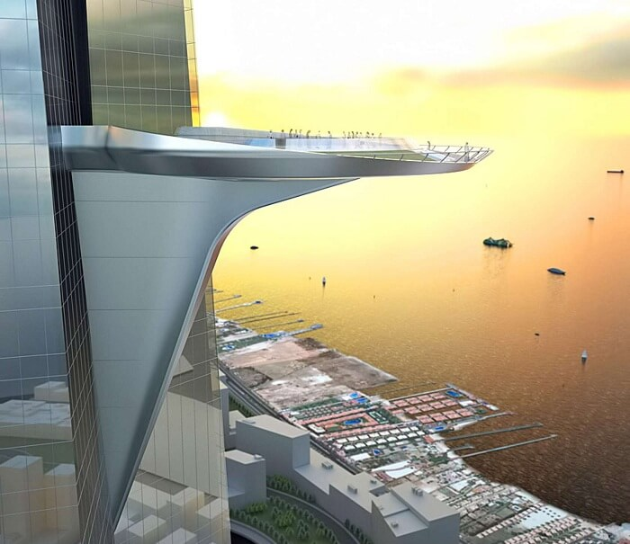 A view of what the highest observatory will look like