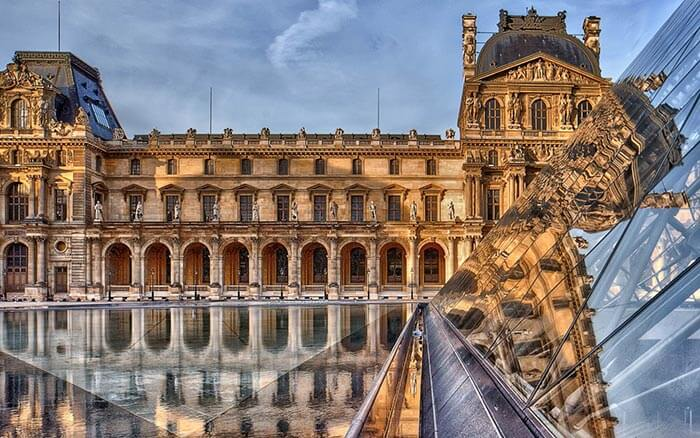 The Louvre sparkling under the midnight sun