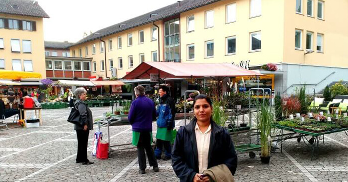 Salai on her trip to Switzerland